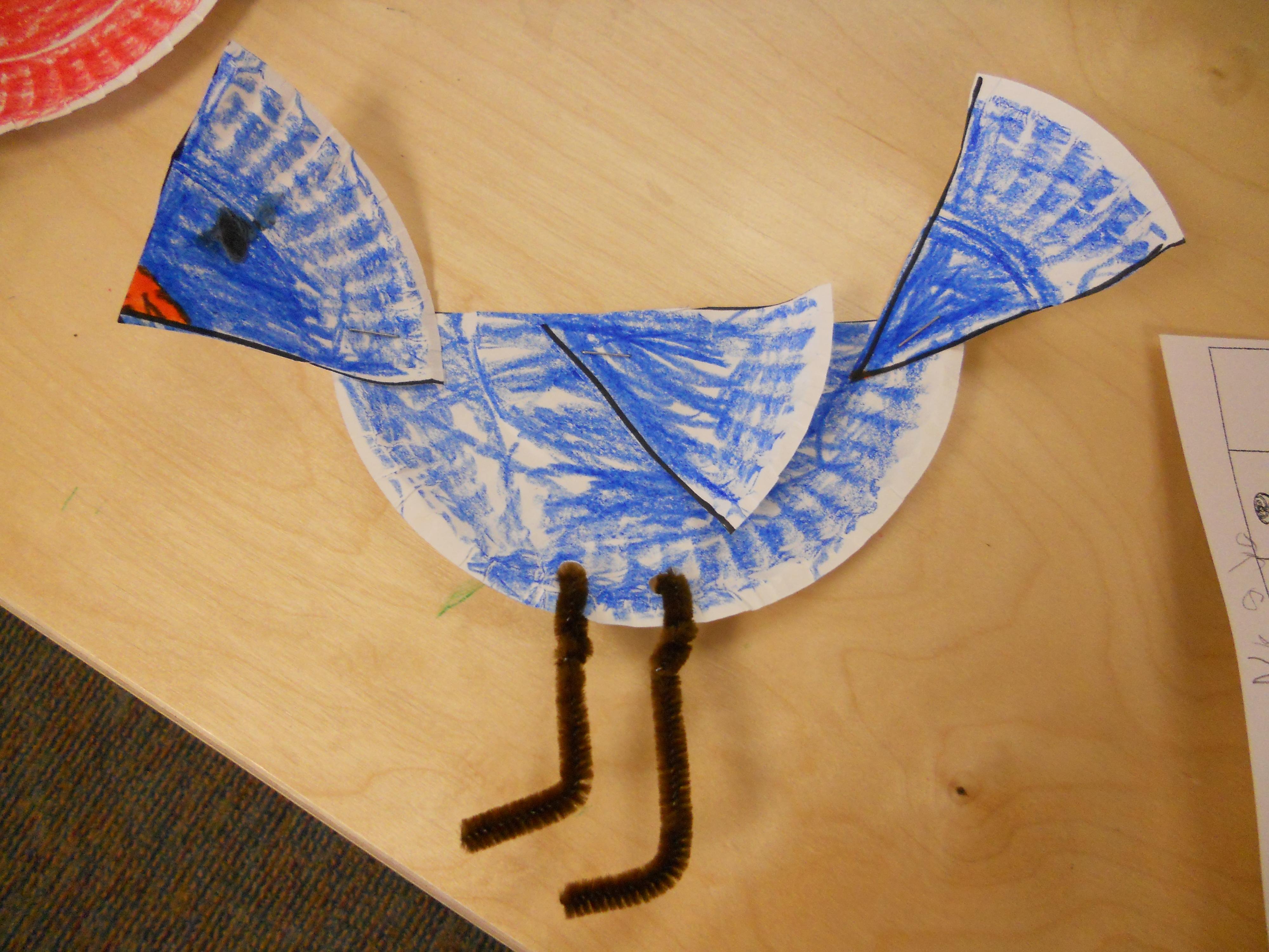 CoolPix2 008 & My Montessori Journey: Paper Plate Bird Art Project